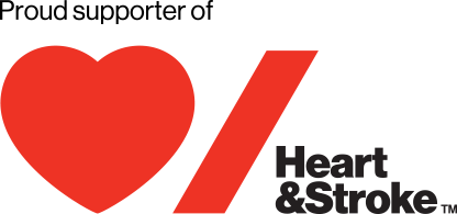 Proud Supporter of the Heart & Stroke